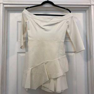 NBD White off the shoulder dress